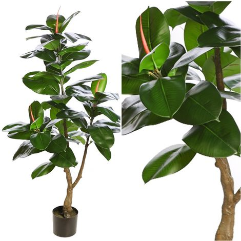 Planta Ficus Artificial. Realista de Tela y Latex. 130 Cm