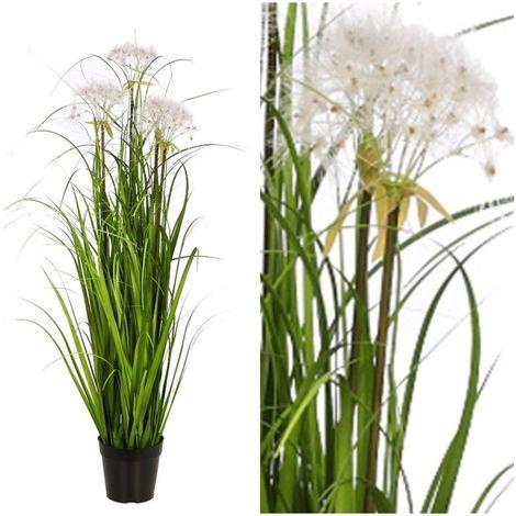 Planta Graminea artificial en maceta. Realista. Altura 114 cm