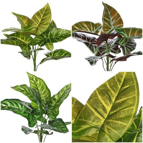 Planta mata Alocasia artificial. Realista. Altura 40 cm
