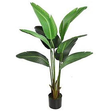 Planta Platanera artificial. Incluye maceta. Realista. Altura 112 cm