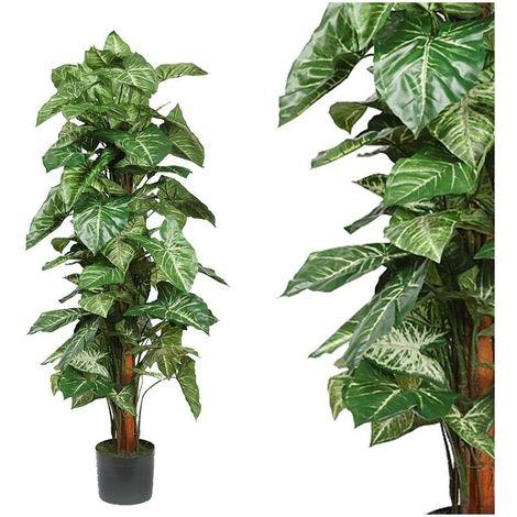 Planta Singonio Tutor artificial. Incluye maceta. Realista. 122 cm