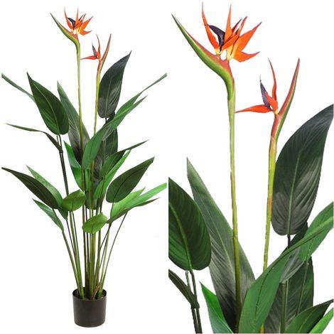 Planta Strelitzia Artificial. Realista de Tela. 135 Cm