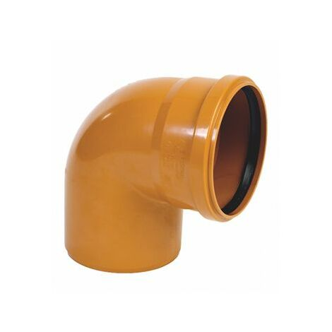 Plantawa Coude PVC Couleur Tuile 90º lisse E-I Ø250