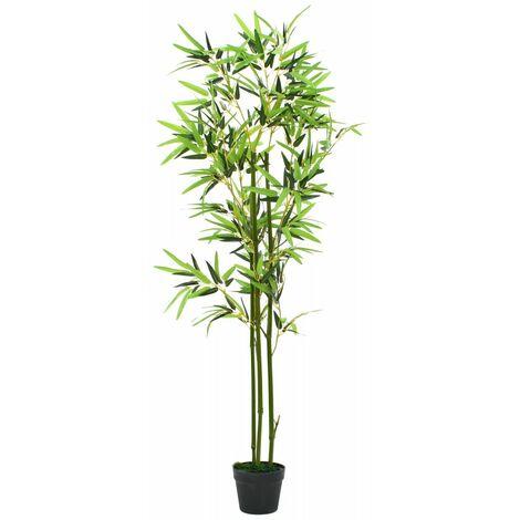 Plante artificielle avec pot bambou 150 cm vert - vert
