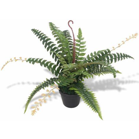 Plante artificielle avec pot fougère 50 cm vert - vert