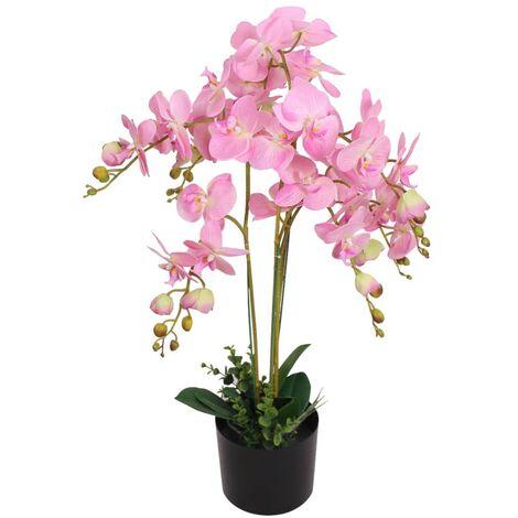 Plante artificielle avec pot Orchidée 75 cm Rose