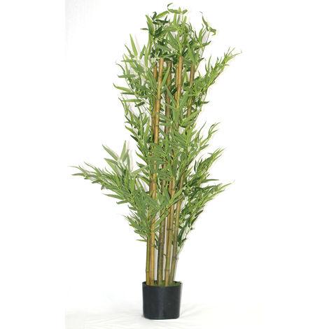 Plante artificielle Bambou - Hauteur 120-130 cm -PEGANE-