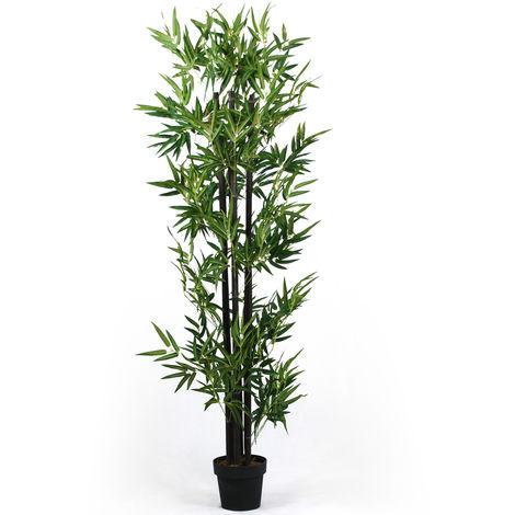 Plante artificielle Bambou Noir - Hauteur 180 cm -PEGANE-
