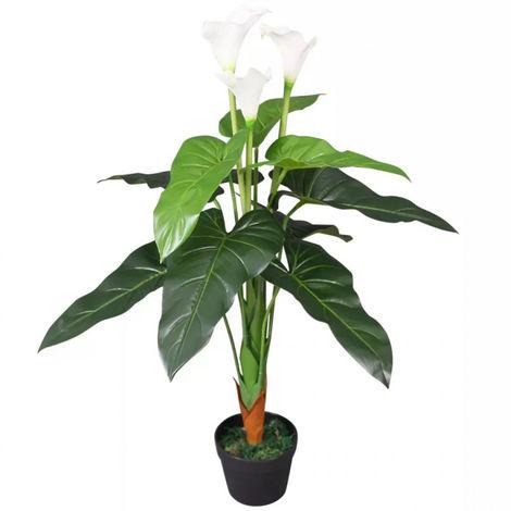PLANTE ARTIFICIELLE CALLA LILY BLANC HAUTEUR 120 CM