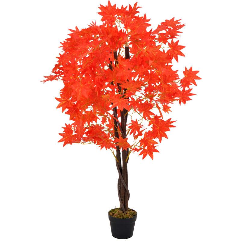 XHXSTORE 2PCS Plante Artificielle Suspendue Feuille dErable Fausse Plante Tombante Rouge Branche Automne pour Exterieur Interieur Maison Jardin 100cm