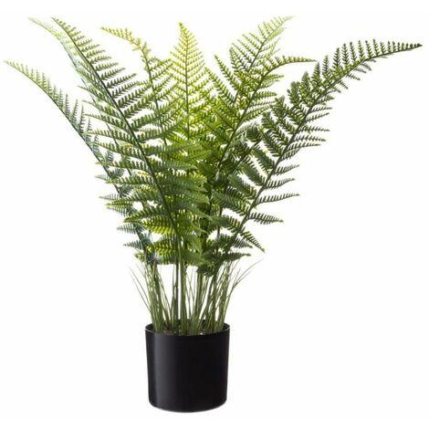Plante Artificielle en Pot Fougère 80cm Noir