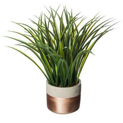 Plante Artificielle en pot Verte 40cm Cuivre