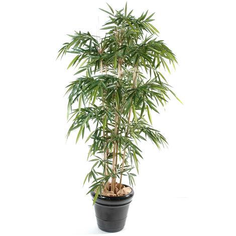 Plante artificielle haute gamme Spécial extérieur / Bambou artificiel coloris vert - Dim : 150 x 90 cm