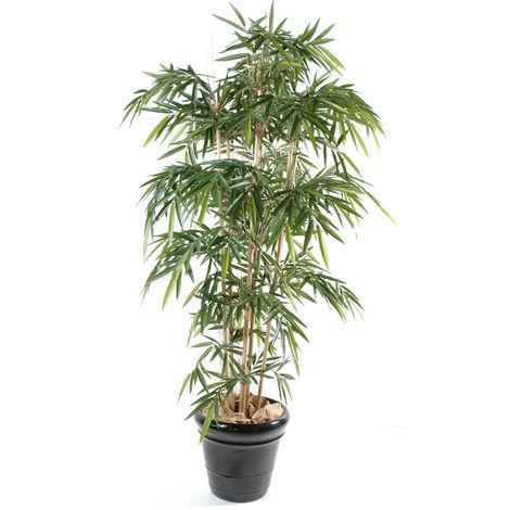 Plante artificielle haute gamme Spécial extérieur / Bambou artificiel coloris vert - Dim : 180 x 90 cm