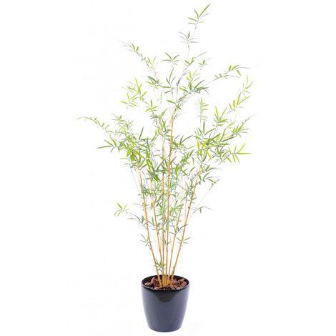 Plante artificielle haute gamme Spécial extérieur/Bambou artificiel coloris vert - Dim : 195 x 60 cm