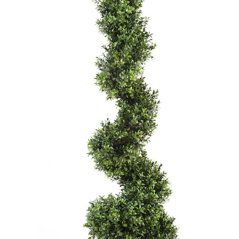 Buis Artificiel Spirale Haut De Gamme-120cm