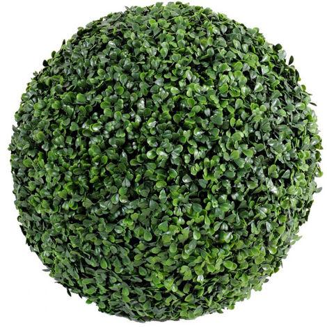 Plante artificielle haute gamme Spécial extérieur / Buis boule artificiel - Dim : H.38 x D.38 cm -PEGANE-