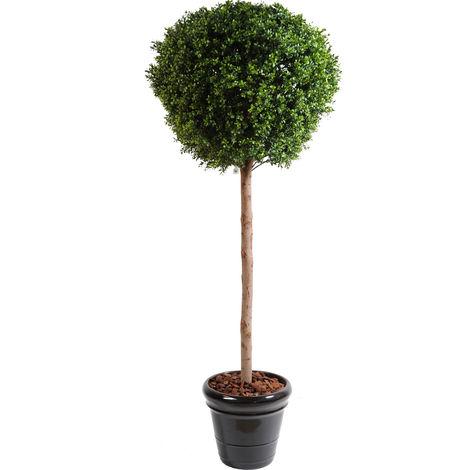 Plante artificielle haute gamme Spécial extérieur / Buis boule coloris vert - Dim : H.180 x D.80 cm