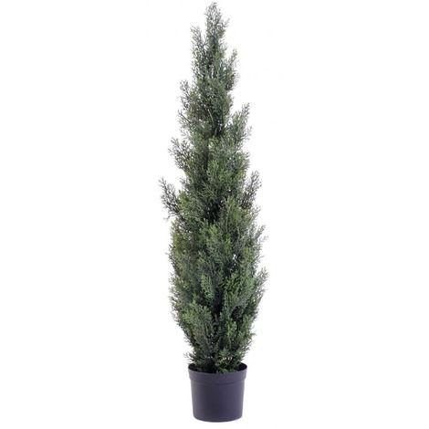 Plante artificielle haute gamme Spécial extérieur / Cyprès Artificiel Mini Vert - Dim : 125 x 25 cm