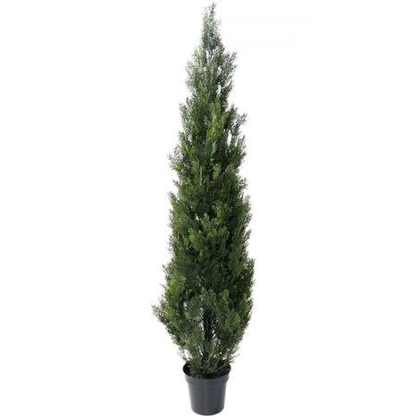 Plante artificielle haute gamme Spécial extérieur / Cyprès Artificiel Mini Vert - Dim : 180 x 45 cm