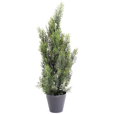 Plante artificielle haute gamme Spécial extérieur / Cyprès artificiel Mini Vert - Dim : 60 x 20 cm