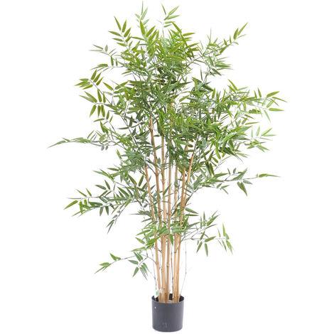 Plante artificielle haute gamme Spécial extérieur en Bambou artificiel, couleur verte - Dim : 120 x 75 cm