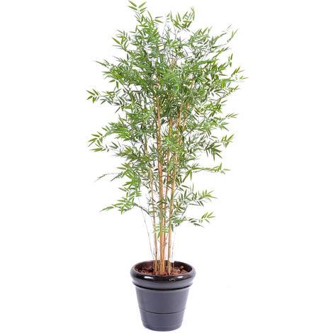 Plante artificielle haute gamme Spécial extérieur en Bambou artificiel, couleur verte - Dim : 180 x 85 cm