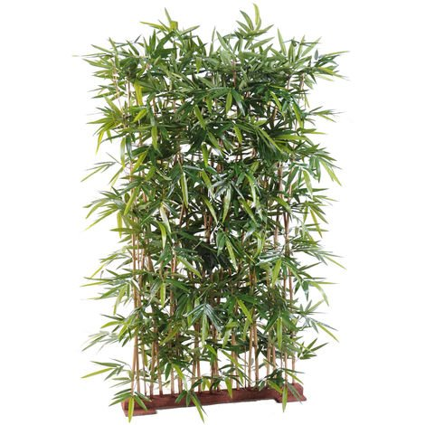 Plante artificielle haute gamme Spécial extérieur/ Haie artificielle Bambou, coloris vert - Dim : 150 x 50 x 130 cm