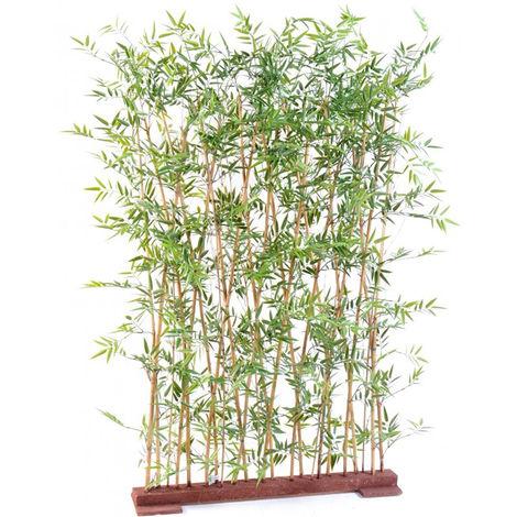 Plante artificielle haute gamme Spécial extérieur/ Haie artificielle BAMBOU coloris vert - Dim : 160 x 35 x 110 cm