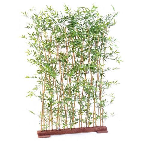 Plante artificielle haute gamme Spécial extérieur/ Haie artificielle BAMBOU coloris vert - Dim : 190 x 35 x 110 cm