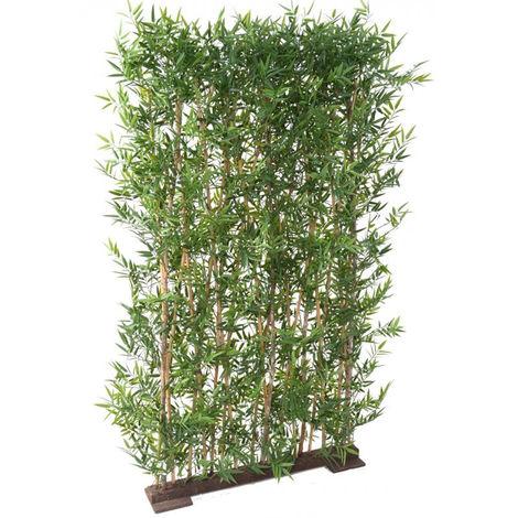Plante artificielle haute gamme Spécial extérieur/ Haie BAMBOU Artificiel coloris vert - Dim : 190 x 50 cm
