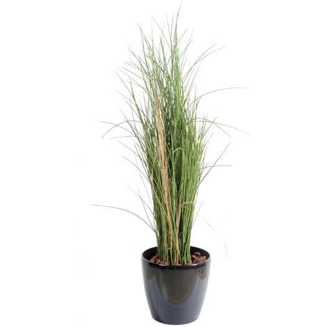 Plante artificielle haute gamme Spécial extérieur / Herbe artificielle - Dim : 115 x 40 cm -PEGANE-