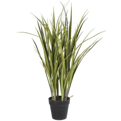 Plante artificielle haute gamme Spécial extérieur / Herbe artificielle POTEE - Dim : 75 x 50 cm -PEGANE-