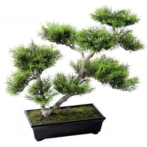Plante artificielle haute gamme Spécial extérieur / PIN artificiel BONSAI - Dim : 42 x 48 cm -PEGANE-