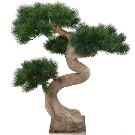 Plante artificielle haute gamme Spécial extérieur / PIN artificiel BONSAI - Dim : 92 x 65 cm -PEGANE-