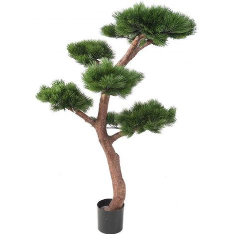 Plante artificielle haute gamme Spécial extérieur / PIN artificiel BONSAI UV - Dim : 150 x 90 cm -PEGANE-