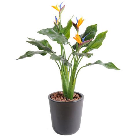 Plante artificielle haute gamme Spécial extérieur / Strelitzia artificiel - Dim : 50 x 35 cm -PEGANE-