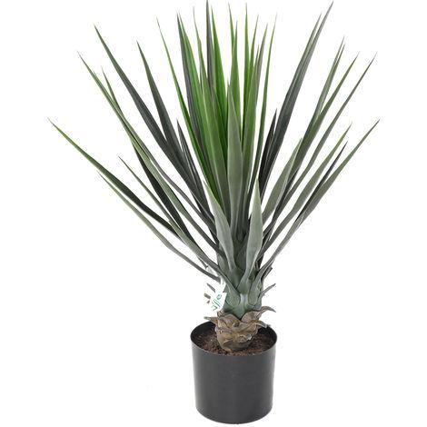 Plante artificielle haute gamme Spécial extérieur / YUCCA Artificiel - Dim : 60 x 40 cm -PEGANE-