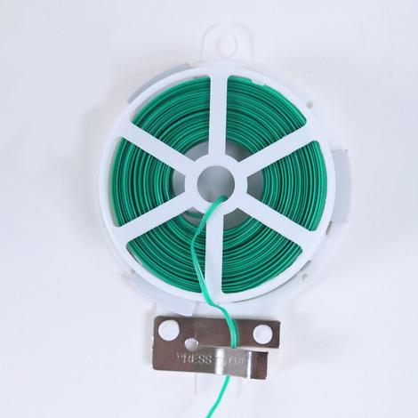 Plante Twist Cravate Verte Coated Fil pour Jardinage Intérieur réutilisable Câble Cordon Artisanat Accessoires 30m