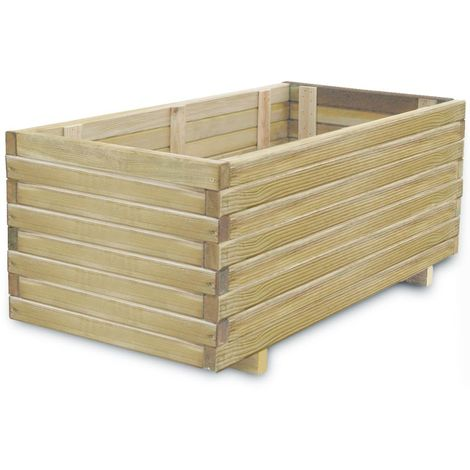 Planter 100x50x40 cm FSC Wood Rectangular