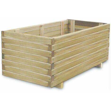 Planter 100x50x40 cm Wood Rectangular