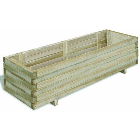 Planter 120x40x30 cm Wood Rectangular