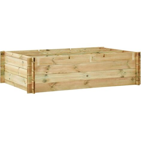 Planter 150x100x40 cm Impregnated Wood
