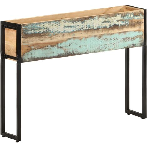 Planter 90x20x68 cm Solid Reclaimed Wood