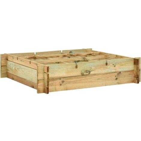 Planter 90x90x20 cm FSC Impregnated Wood