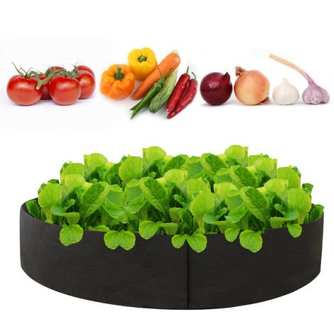 Planter Grow Bag Thickened Planter Bag Round Shape Container Nonwoven Fabric