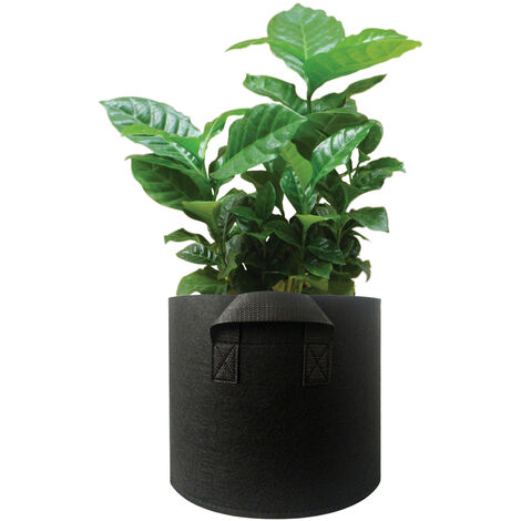 Planter Grow Bag with Handle Thickened Planter Bag Round Shape Container Nonwoven Fabric