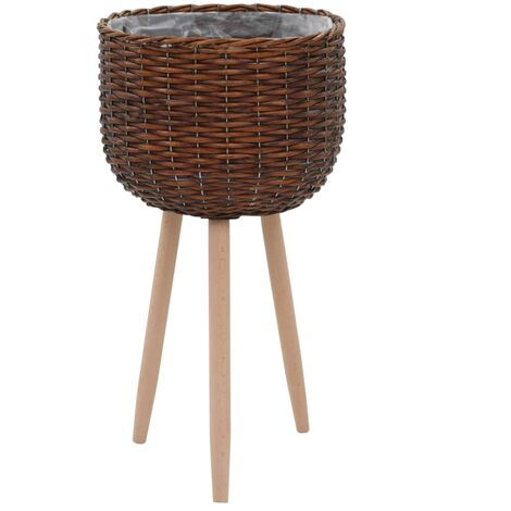 Planter Wicker with PE Lining - Brown