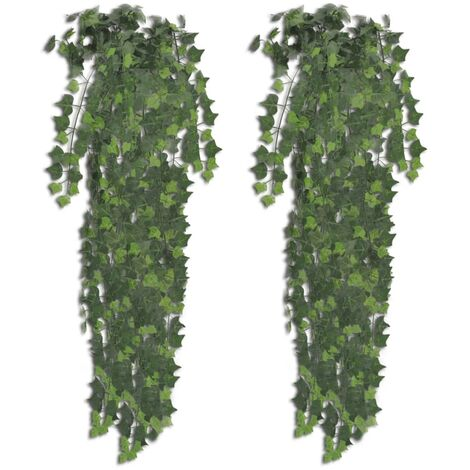 Plantes artificielles 2 pcs Lierre Vert 90 cm