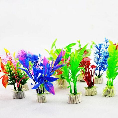 Plantes D'Aquarium Artificielles, Plantes D'Aquarium En Plastique, 10 Pcs